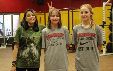 Michelle Allen, Holly Hazeldine and Lavendar Tonini, sophomores