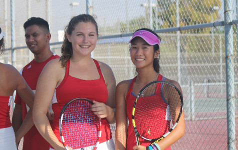 Girls tennis wins against Irvine High with high hopes for the future