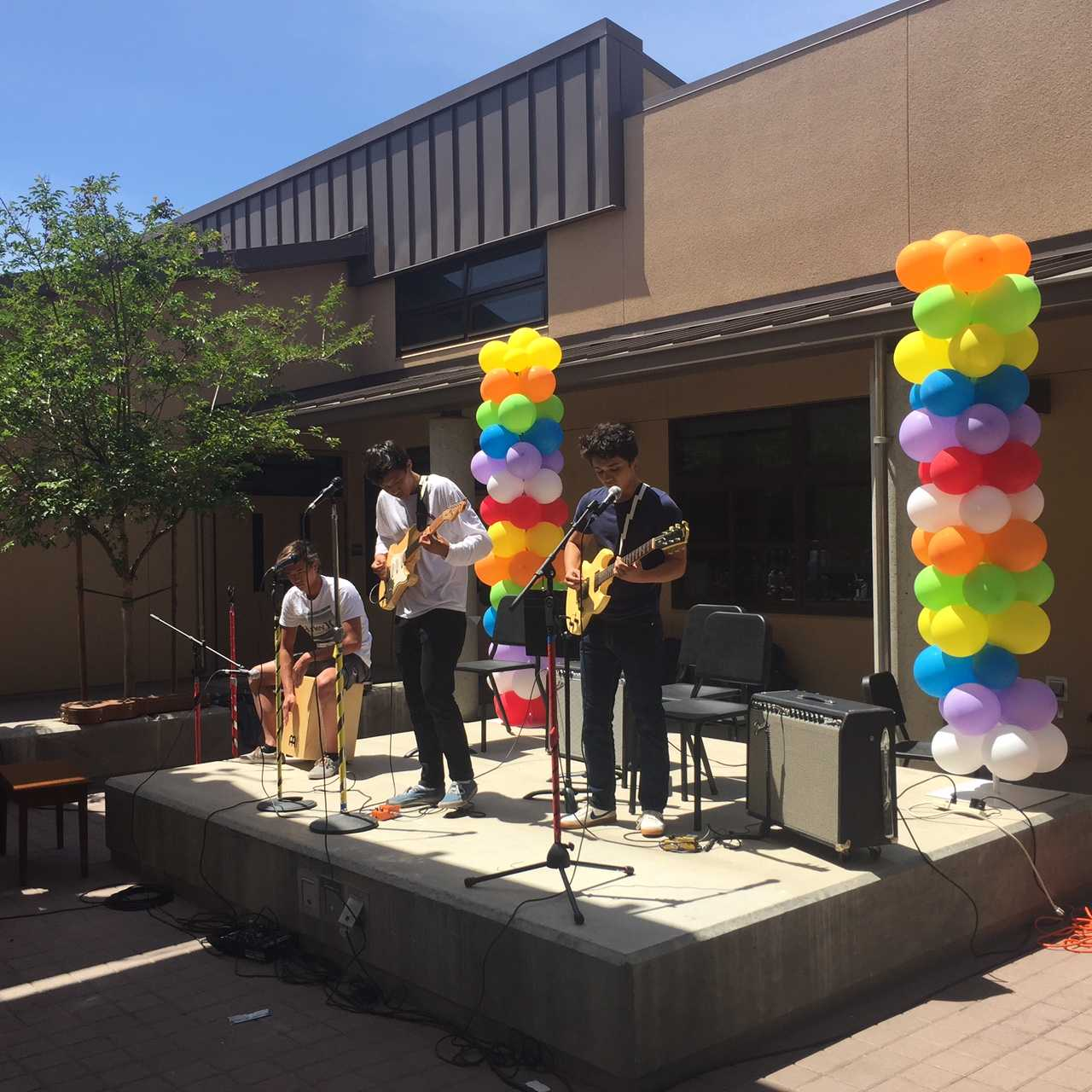 Science Club performs during Quadchella, showcasing it's unique band of indie, surf and garage rock