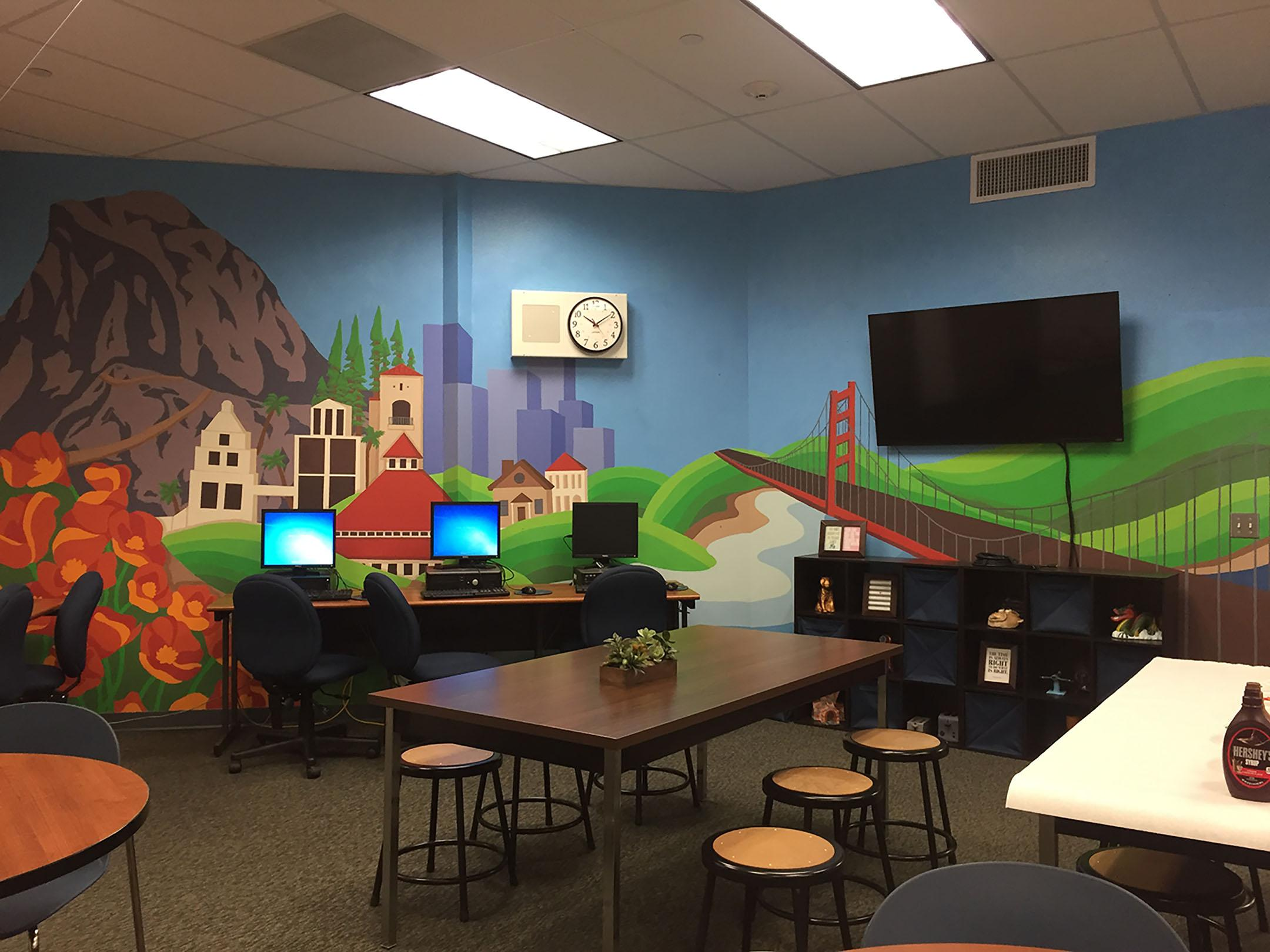 Counseling department is the new home to California themed mural.