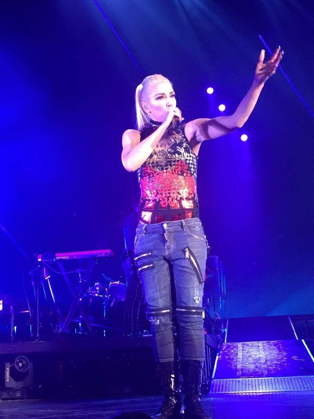Singer Gwen Stefani performed at the last show in the Amphitheater.