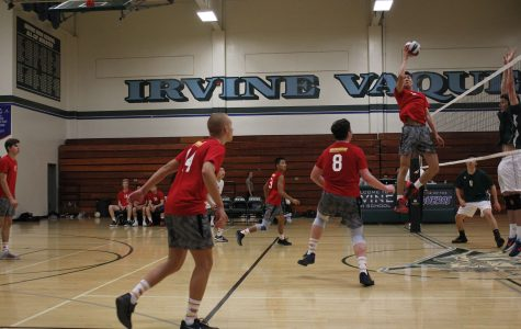 Spiking down the Vaqueros in an exciting victory