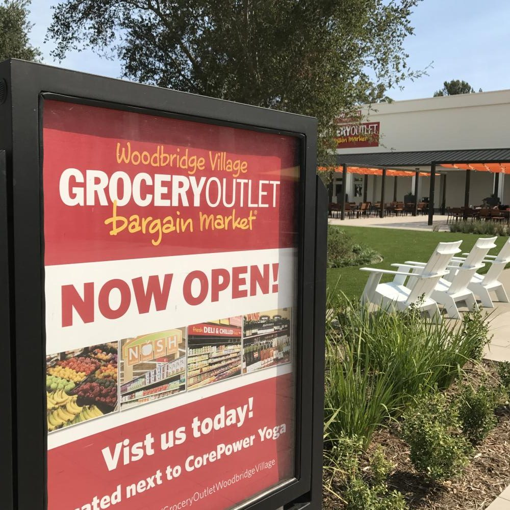 The Grocery Outlet is one of the new stores located within the Woodbridge Village Center