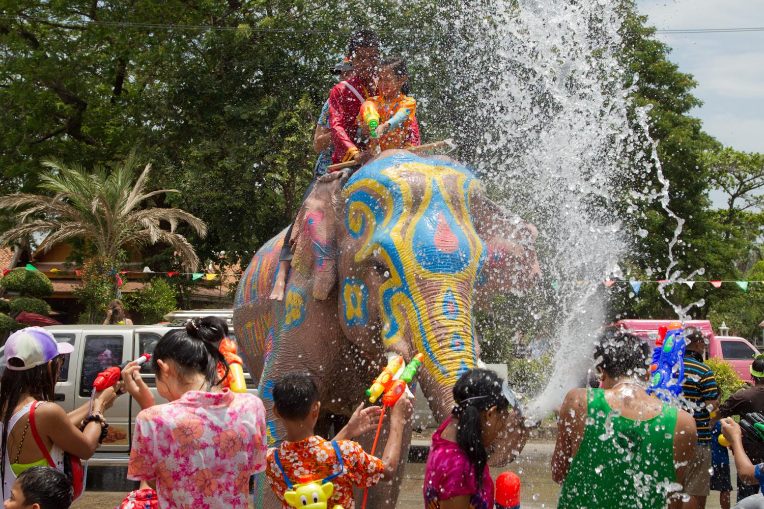 Celebrations of Songkran place a large focus on water, commemorating Buddhist practices.