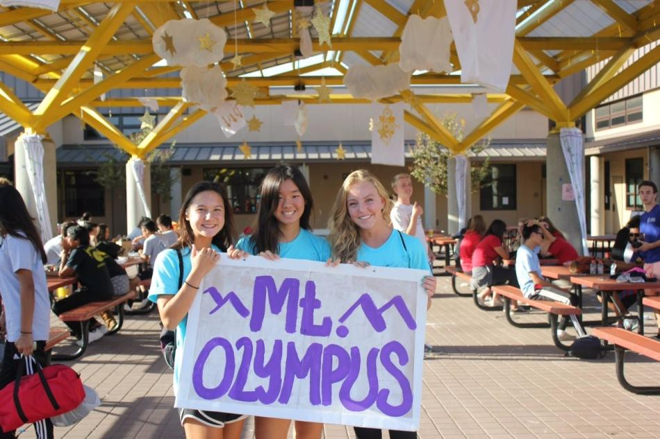 Juniors Rini Jabonski, Lauren Kim and Sophia Silane bring Mt. Olympus down to Earth.