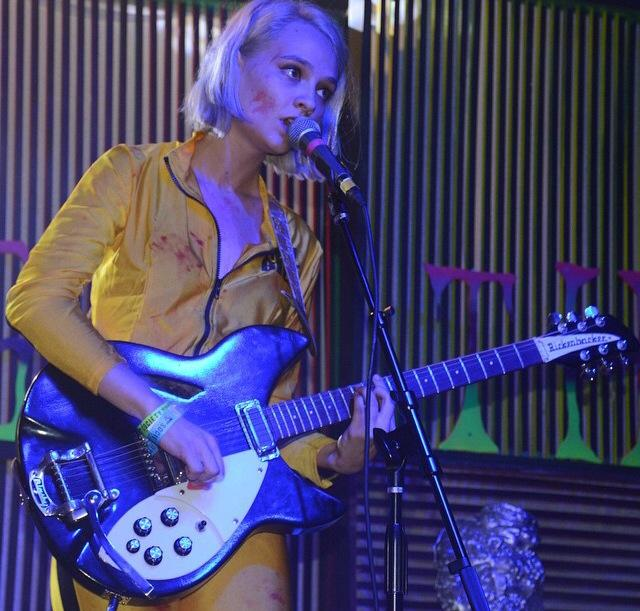 Clementine Creevy of Cherry Glazerr performing at the third annual Beach Goth.