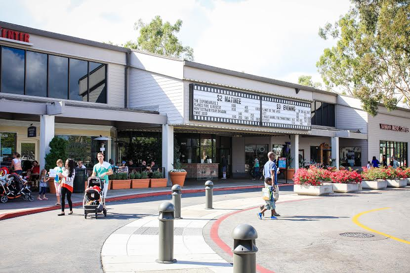 The Woodbridge Village Center is a popular location for movie-going  families on the weekends.