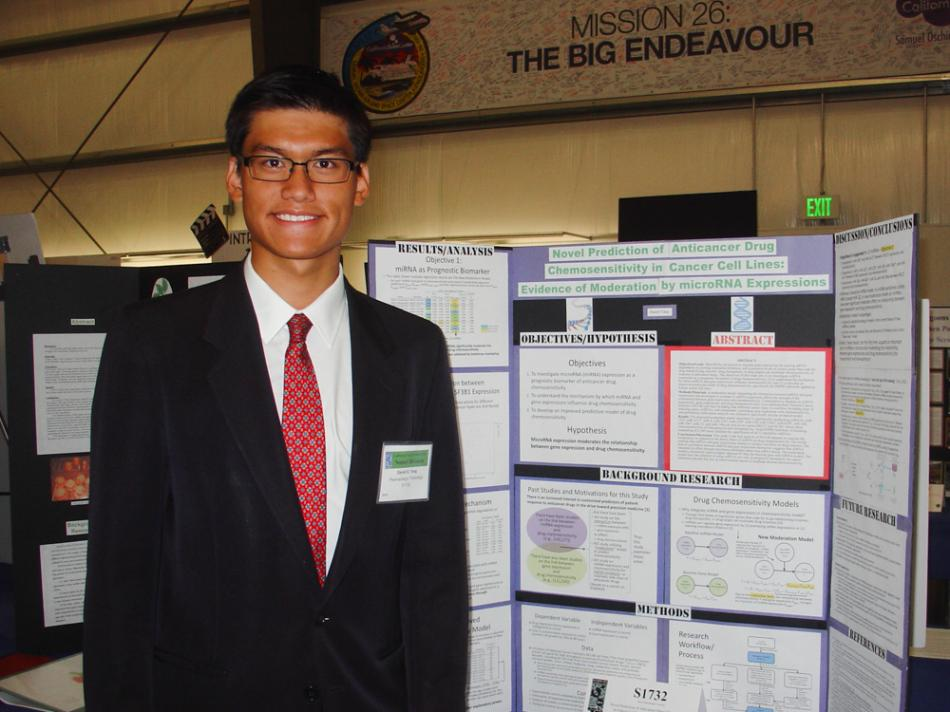 Daniel Yang attends the 2014 Siemens Competition as a semi-finalist with his project titled