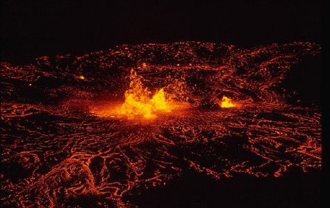 The eruption of Kilauea Volcano at Mauna Uluh may cause destruction to homes in Hawaii.