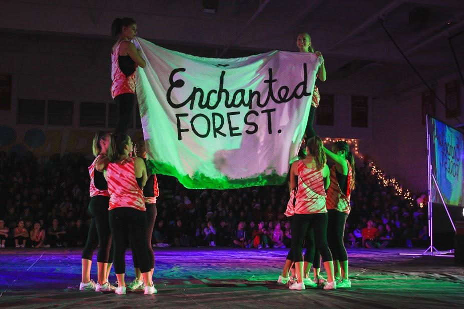 Woodbridge cheer team reveals the theme of the Winter Formal 2015.