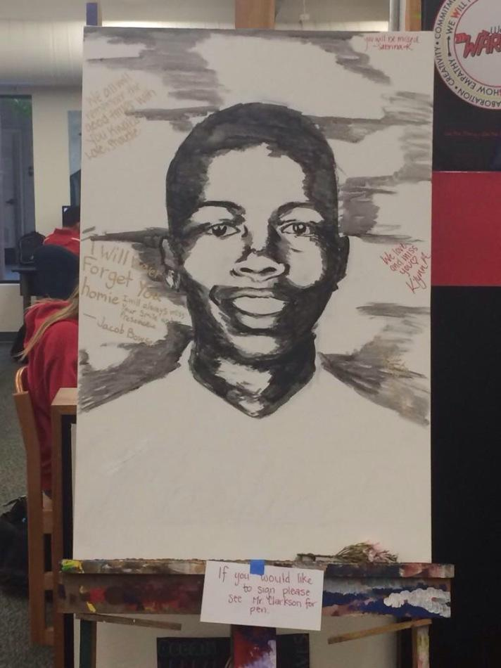 Students+create+a+memorial+drawing+for+the+boy+with+an+infectious+smile.