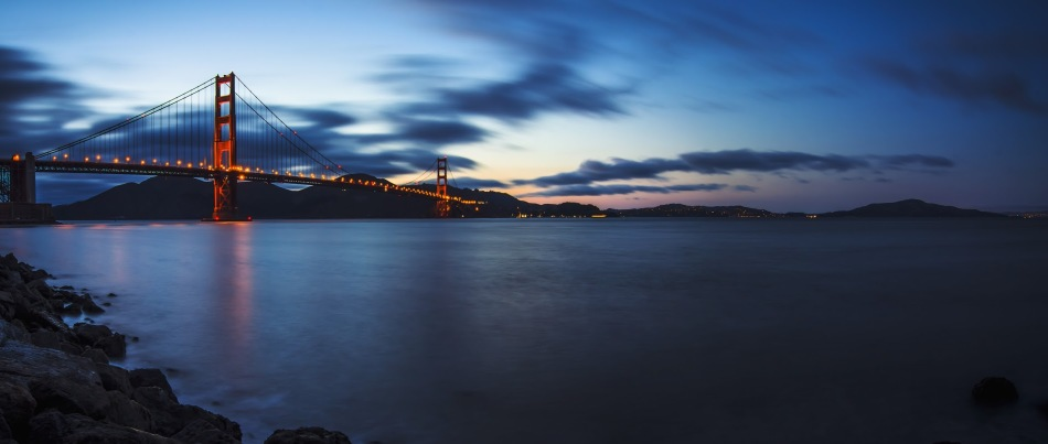 Senior Michael Lin captures a panoramic view of the Bay Area.