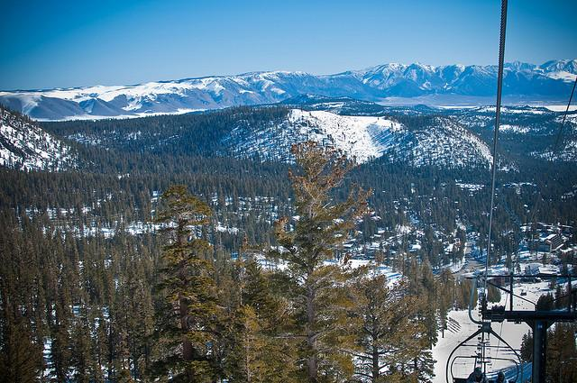 Mammoth Mountain attracts snow lovers during winter months.
