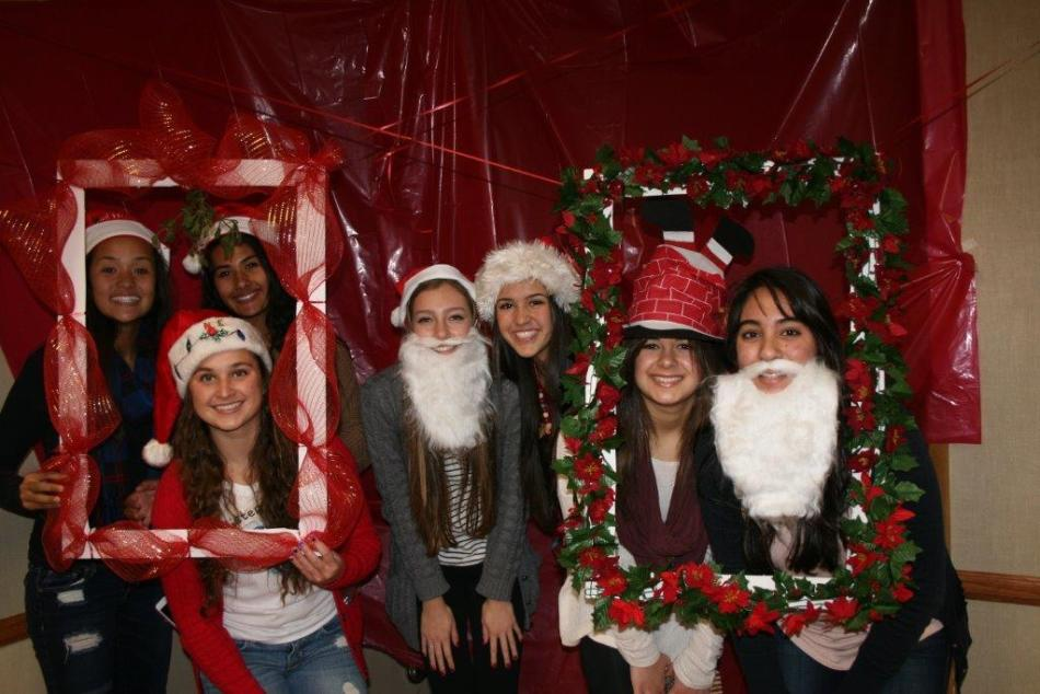 NCL members attend the UCI Child Life charity event where they were wrapping presents.