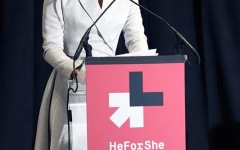 Emma Watson, U.N. Women Goodwill Ambassador, steps up during He for She campaign to speak against gender inequality.