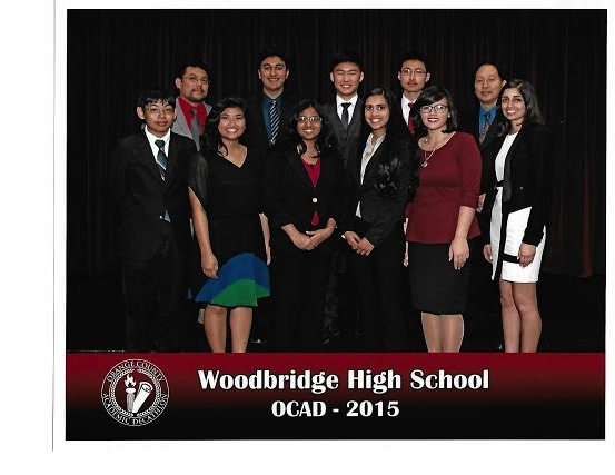 Woodbridge Decathlon members and their advisers after  winning second overall in the OC competition.