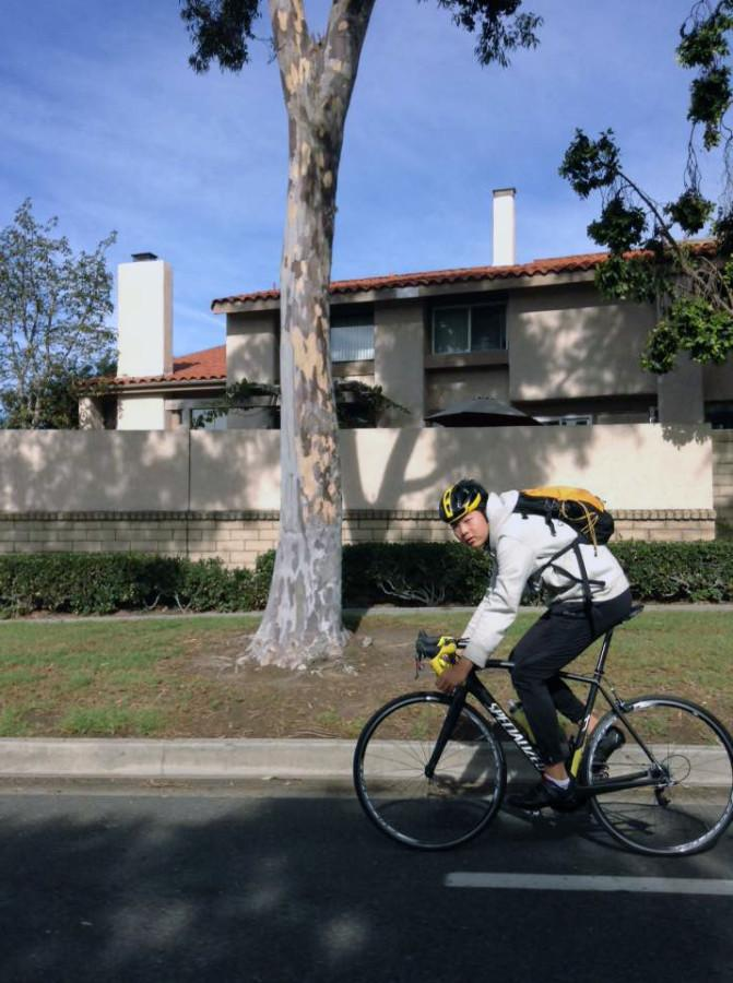 Sophomore Zion Lee gains traction with his biking skills.