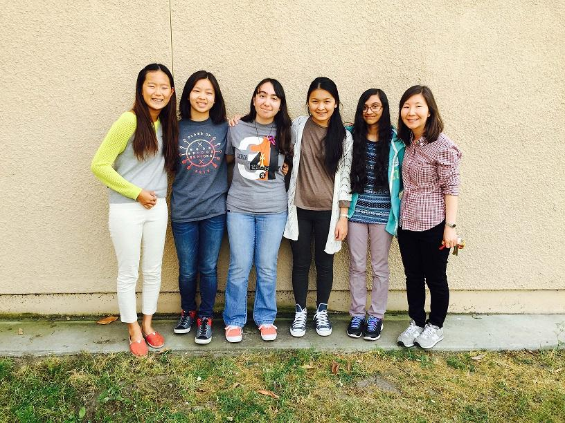 Sophomore Amy Joo, senior Vanessa Qian, junior Armine Dingilian, sophomore Jocelyn Hsieh, sophomore Imaani Choudhari and Lisa Choe (left to right) are the dedicated staff members of the MUSe Literary Journal who work hard to produce the journal every year.