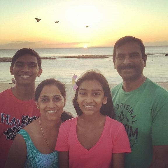Junior Chris Kagoo and freshman Catherine Kagoo explored the Hawaiian Islands of  Kauai and Aldrin.