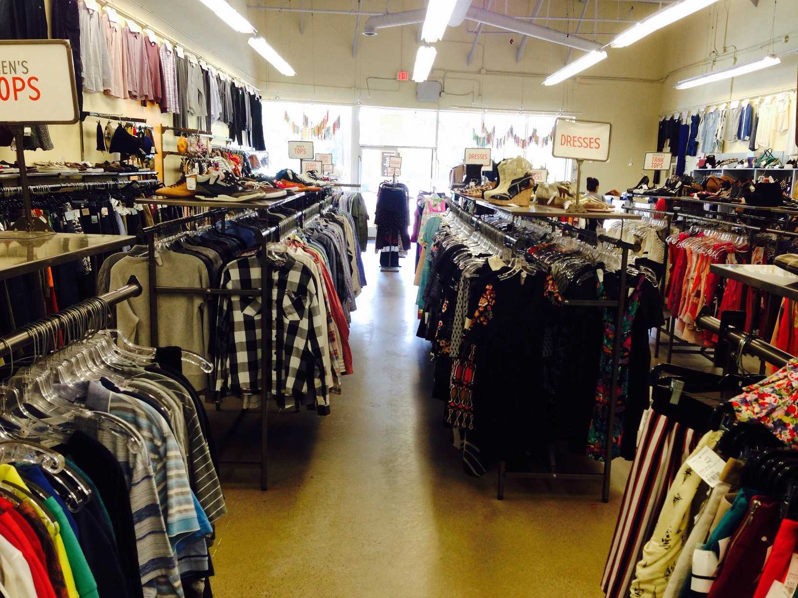 Crossroads Trading Company, located at the Crossroads Plaza is a popular spot for students to buy secondhand clothing.