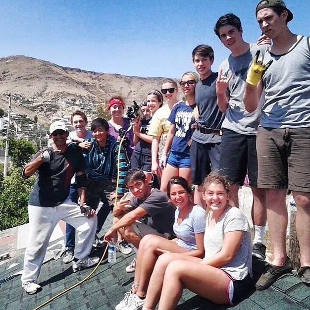 Senior Pauniz Shabakesaz traveled to Rojo Gomez, Mexico to help build a house for a family.