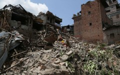 Nepal is left in ruins following a 7.8 magnitude earthquake.