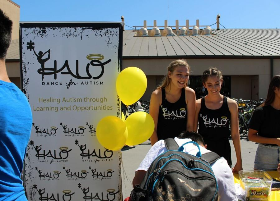 The HALO Dance Club enthusiastically promotes their club during club drive.