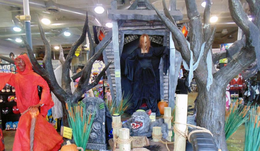 Seasonal spirit stores offer everything you need for Halloween.