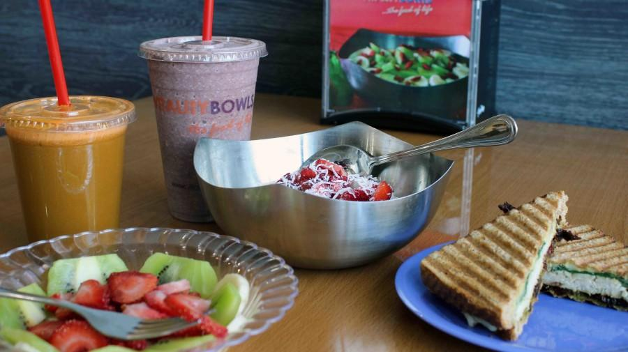 Vitality Bowls offers an array of healthy options.