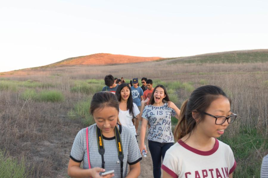 Club members learn photography during hikes