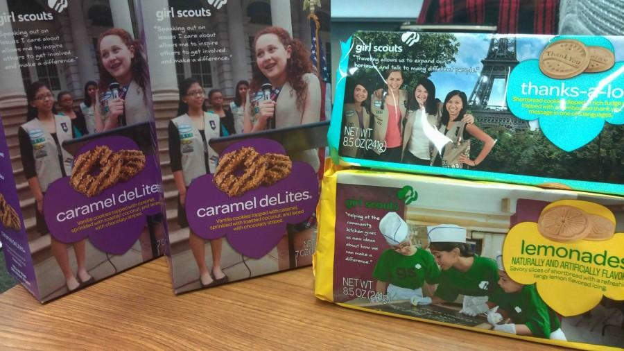 Girl Scout Cookies cannot be sold on campus according to school policies.