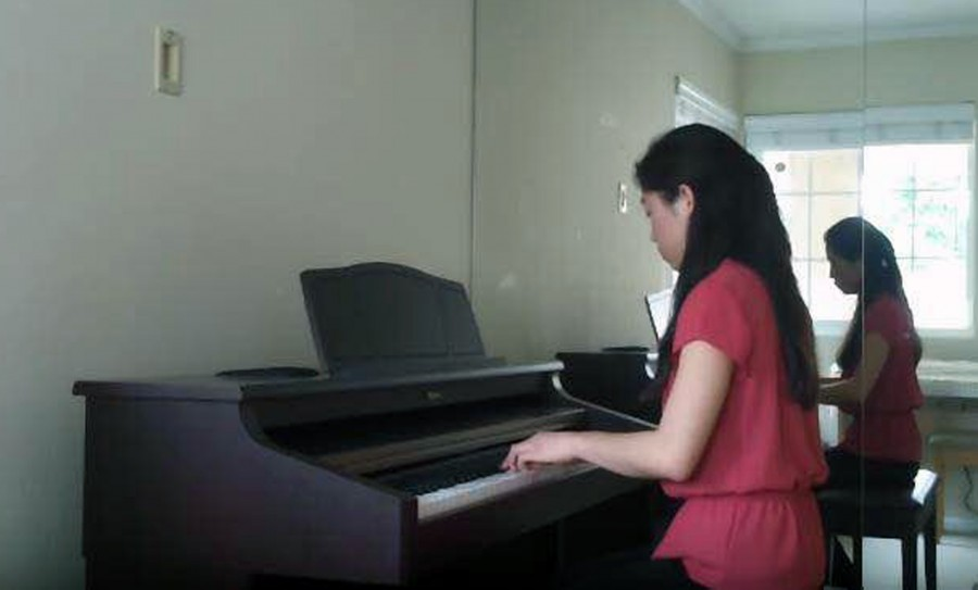 Senior Kelly Lin was nominated for her skill on the piano and talent for composition.