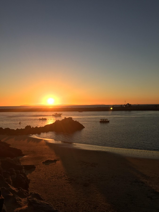 California beaches such as the Corona Del Mar pictured above are places students can view sunsets and enjoy time