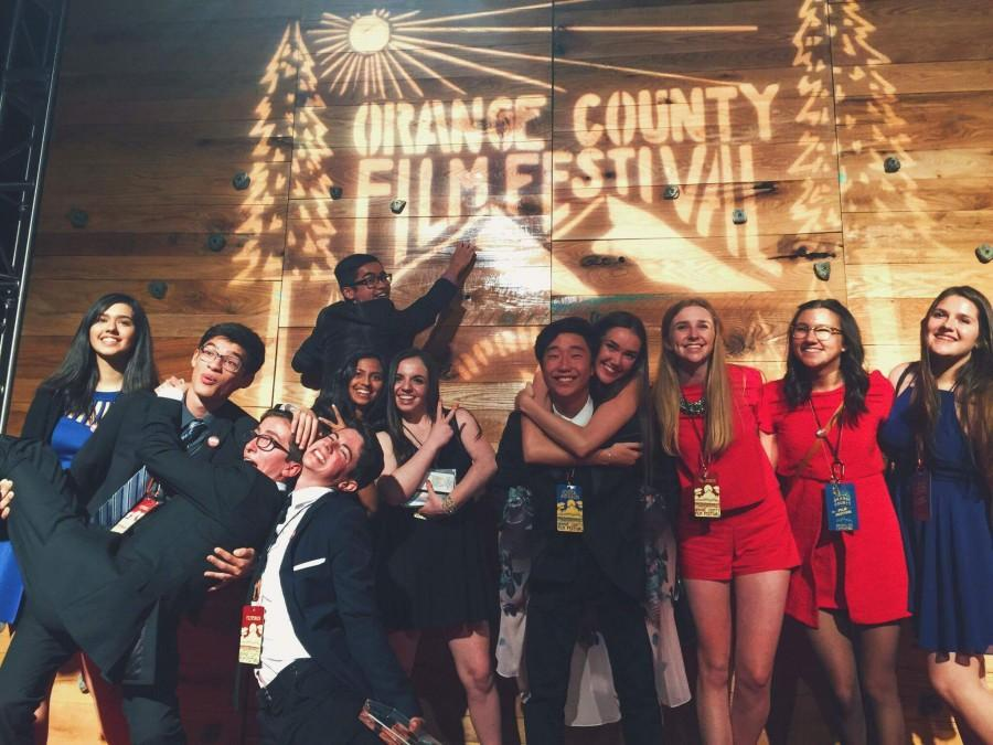 Atria+Jamshidi%2C+Connor+Simon%2C+Theo+Guyot%2C+Dan+Lesser%2C+Brandon+Ledina%2C+Rithika+Akkenapally%2C+Claire+Imler%2C+Matt+Park%2C+Katie+Rogerson%2C+Noelle+McHenry%2C+Kailie+Michalak+and+Lian+Koren+work+hard+at+the+film+festival.%0A