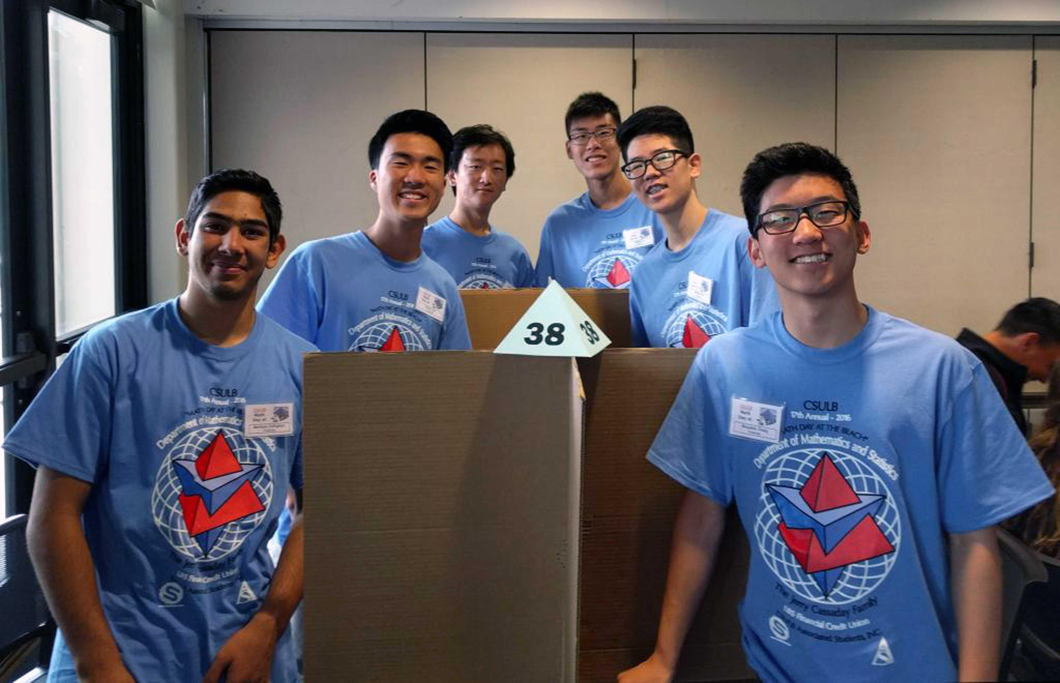 Junior Morteza  Zolfaghari, Seniors Daniel Sun, Andrew Lee, Yucheng Liu, junior Matthew Kim, and Freshman Benjamin Chang, bravely face the individual assessments.