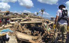 The Ecuador earthquake left many houses damaged and civilians homeless.