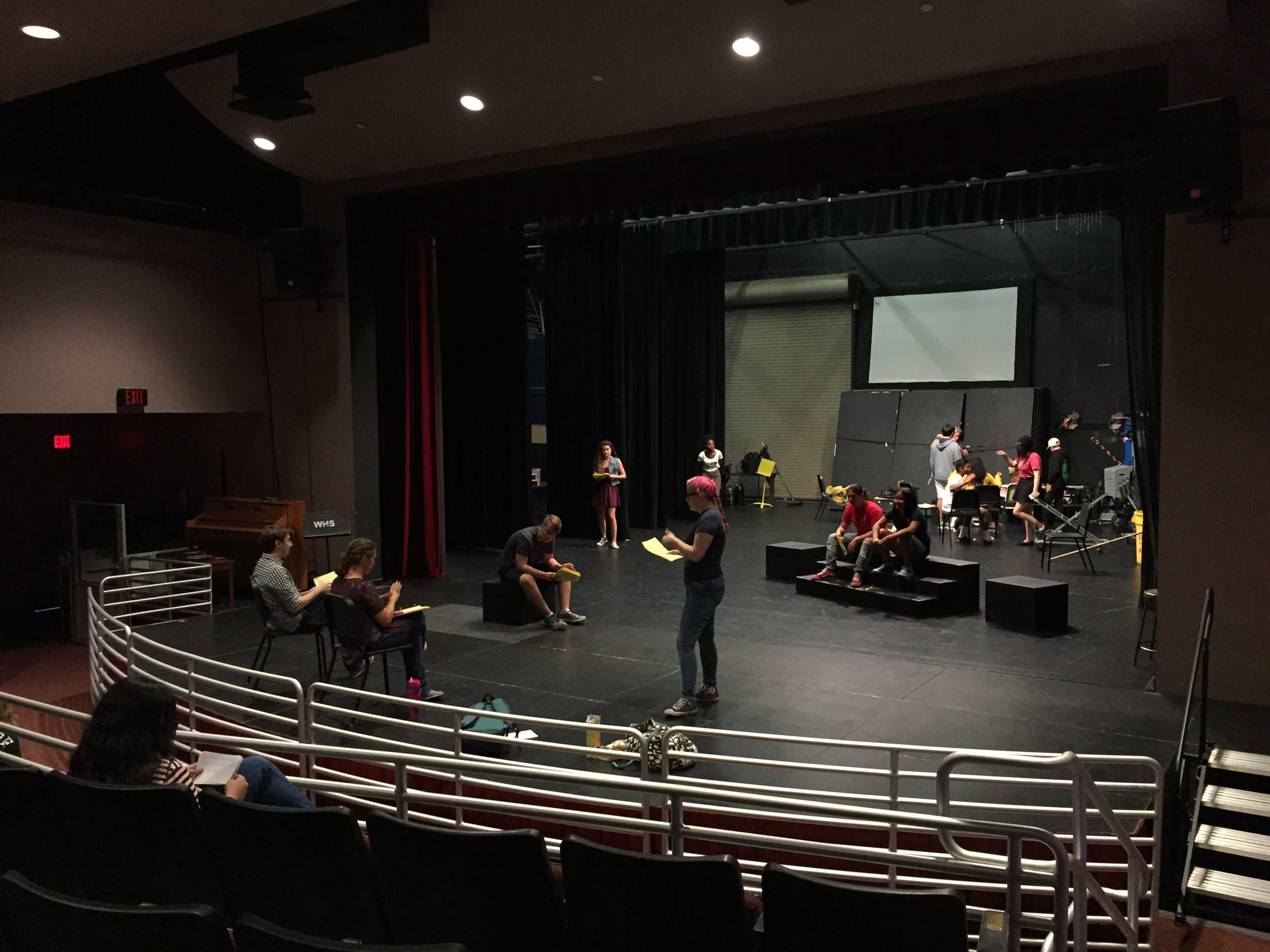 Drama students practice daily before the theater opens with their fall play, A Midsummer Night's Dream.