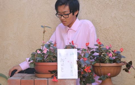 Senior Eric Zhou embodies the main character in his book