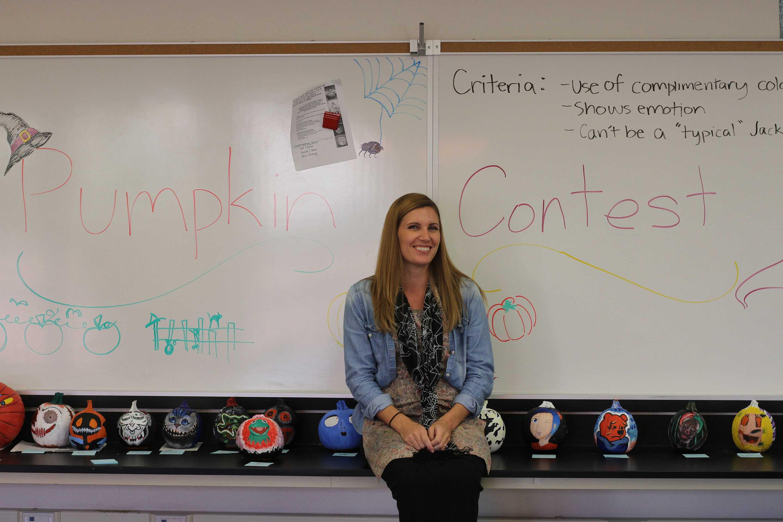 Art teacher Jillian Rogers organized this art contest.