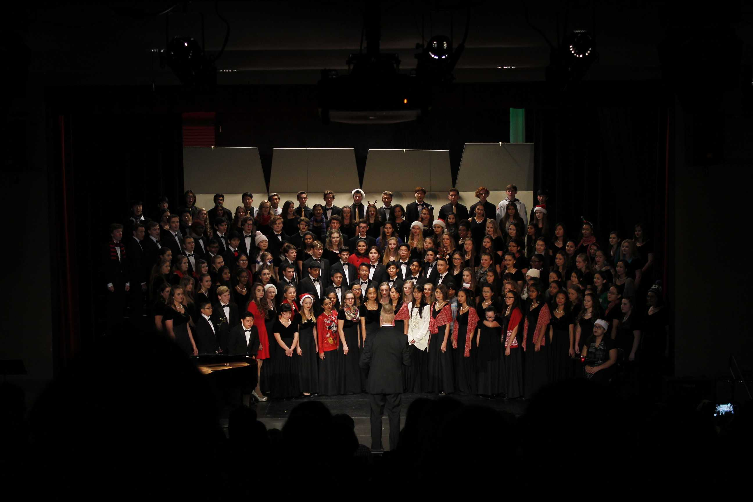 All choirs come together for the opening song