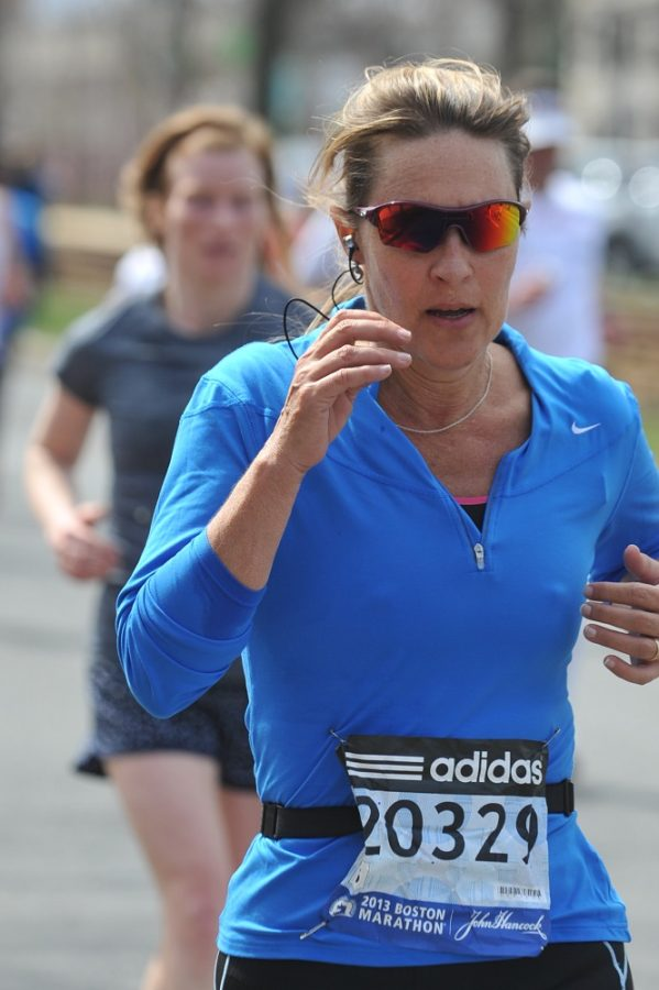 One step at a time: staff jogs marathons