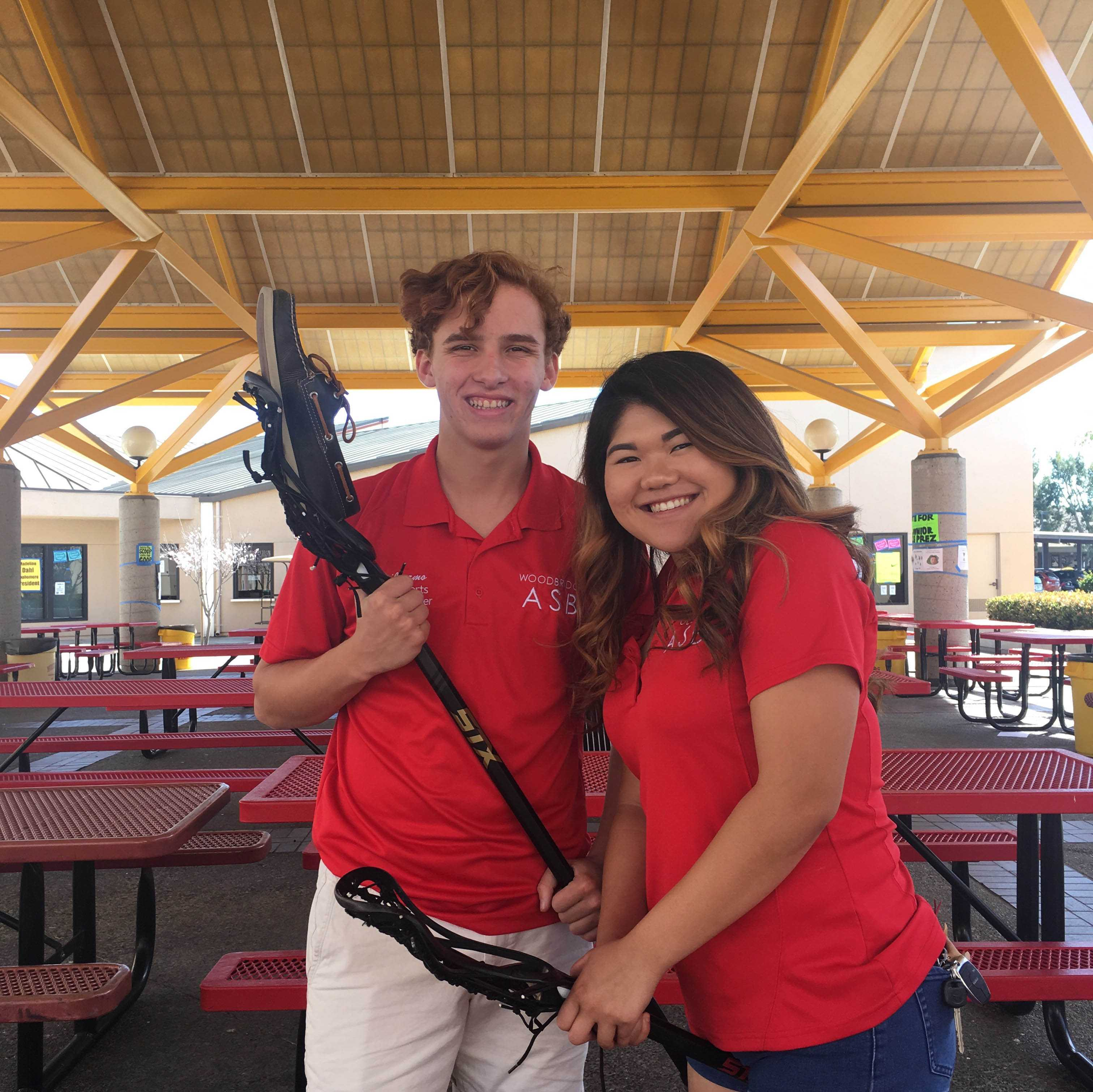 Senior sports commissioners Guillermo Mier y Teran and Mia Ajiro continue to spread spirit on campus by planning Game of the Weeks for athletes.