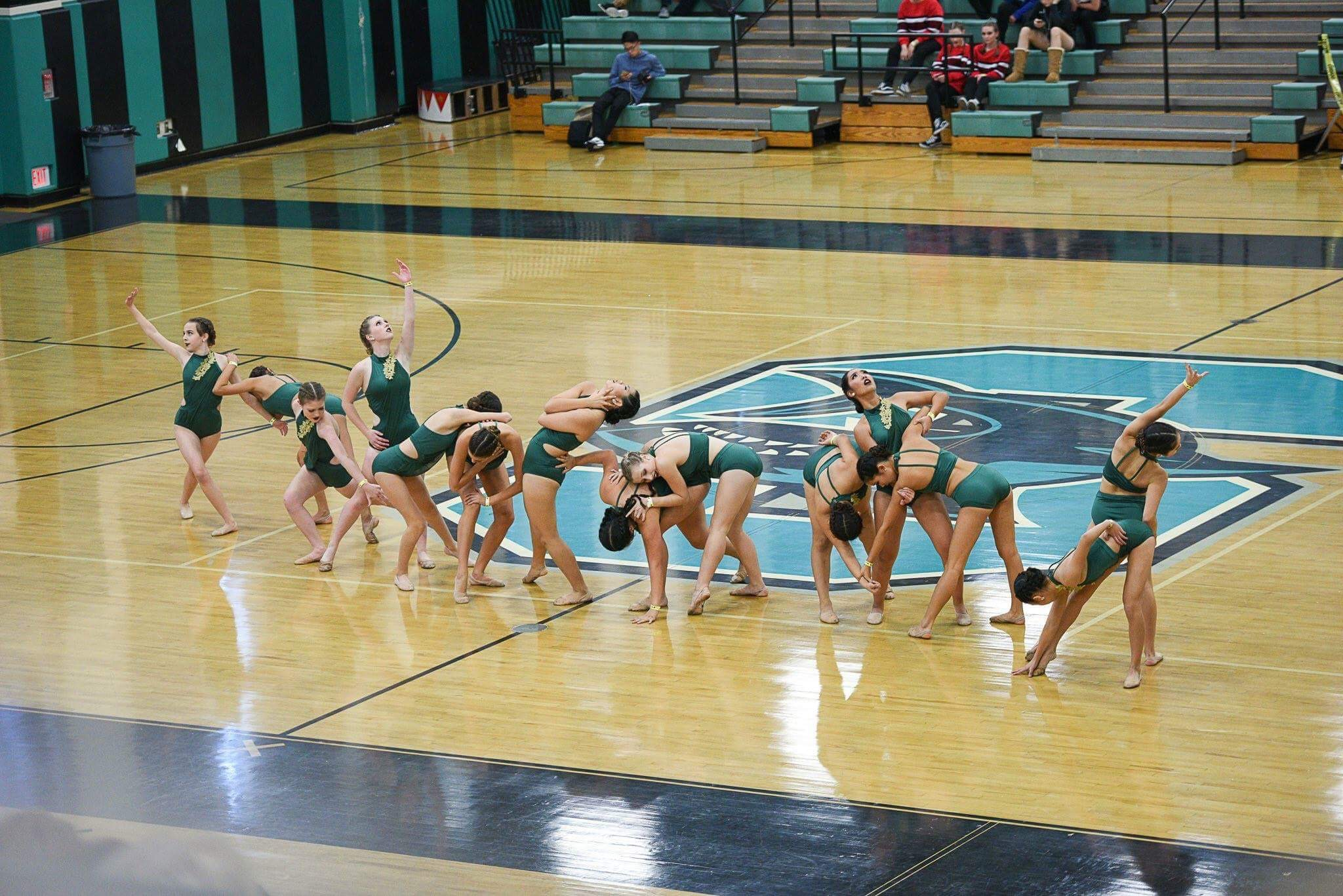 Dance Team  expresses their theme through their dance moves.