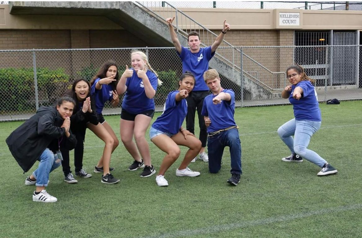 JCL members capture Woodbridge spirit after playing a game of capture the flag at state convention.
