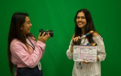 Seniors Bianca Gomez and Atria Jamshidi record memories through film.