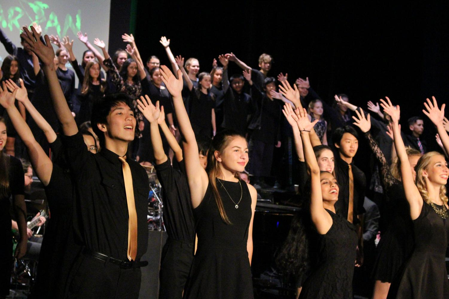 Talented choir students sing at Broadway Cabaret in the theater on Nov. 16.