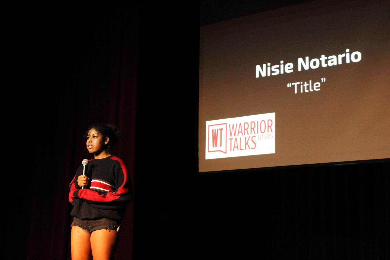 Senior, Nisie Notario speaking about her experiences with bullying.