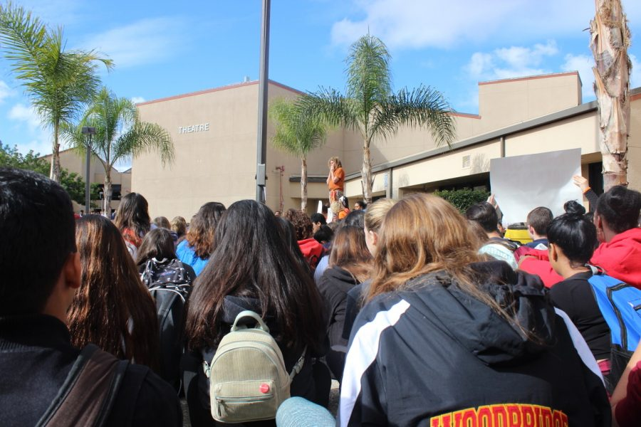 Hundreds of students came to the peaceful protest on Wednesday, March 14.