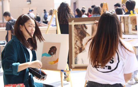 Artists display impromptu pieces for the student body to display.