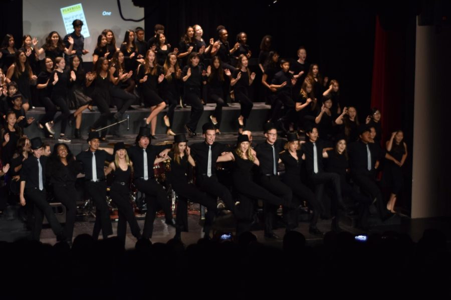 Woodbridge High and Southlake Middle School choir members join forces to perform classic musical hits in the